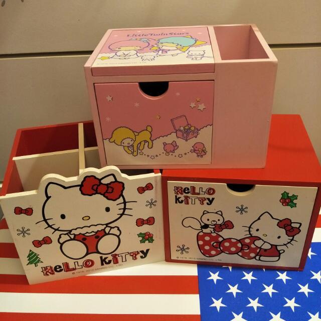 賣 Hello Kitty 雙子星 小收納盒