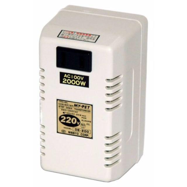 全新 日章工業 DE-200 2000W 變壓器 變壓火牛 (Made in Japan)-日本風筒必配