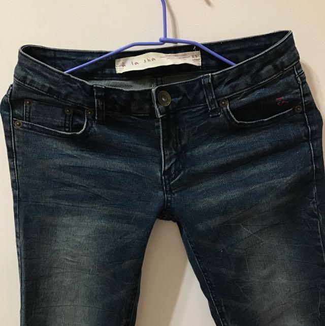 A La Sha 牛仔褲