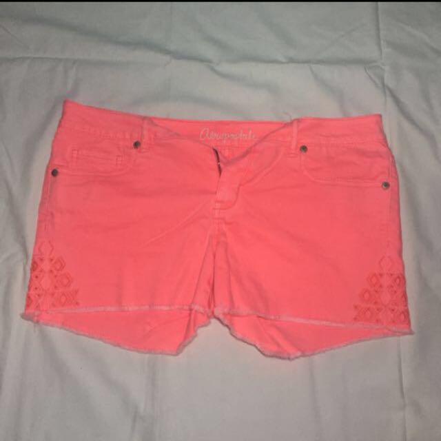 Aeropostale Neon Orange Shorts