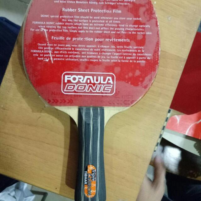 Bat Ping Pong Triple Carbon Rubber Donic Asli Germany