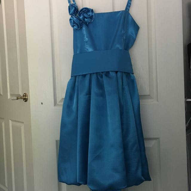 Blue Dress With Sash