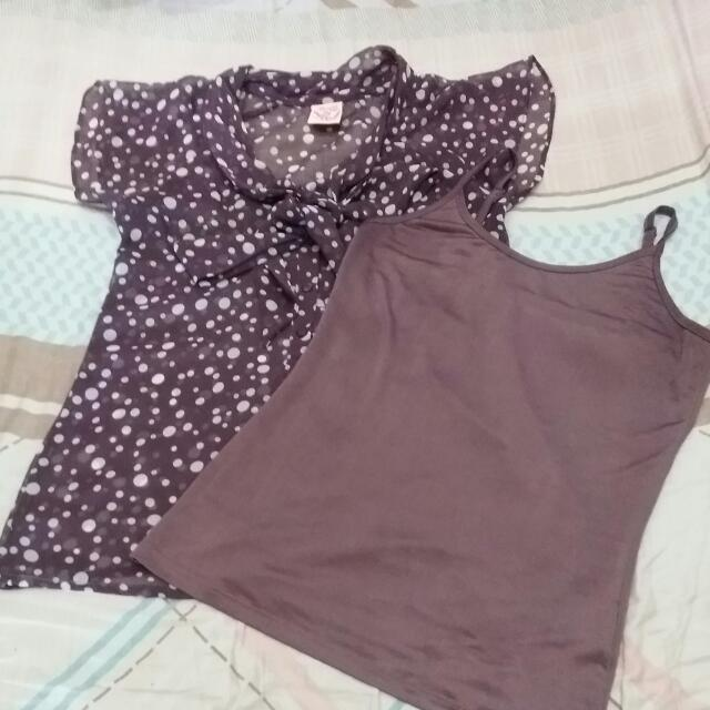 BNY Sheer Purple Top With Inner