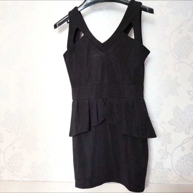 Bodycon Black Dress Hitam