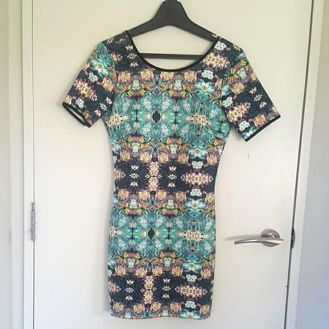 Bodycon Print Dress (Dotti)