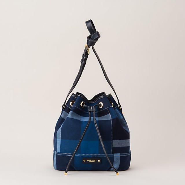 Burberry Blue Label Crestbridge Check Bucket Bag 6fd291309b7ba