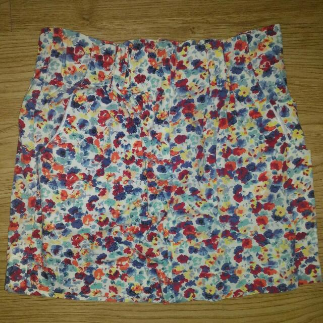 Chicabooti Floral Mini Skirt