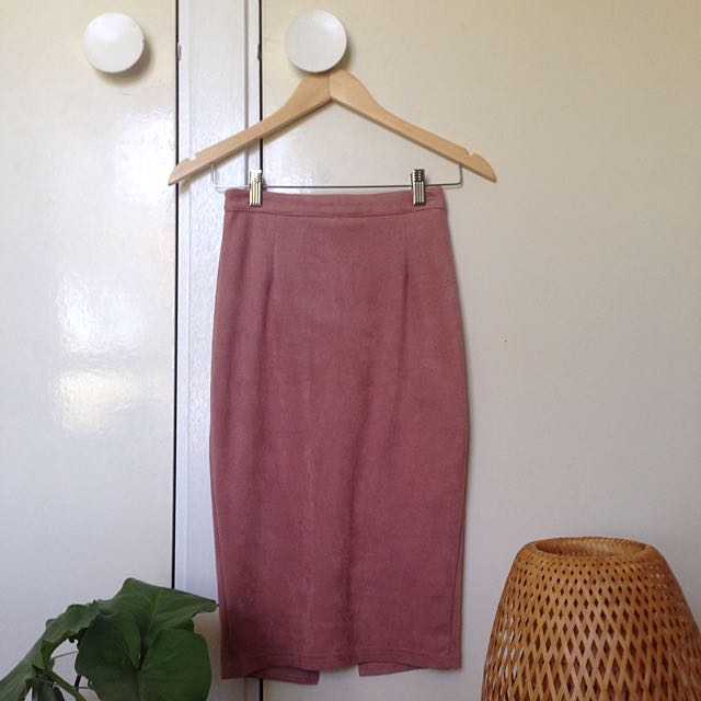 Dusky Pink Midi Skirt