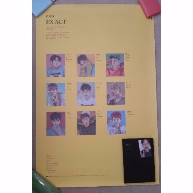 EXO EXACT 3rd Album (Korean MONSTER version) with official Chen PC and Lucky one poster