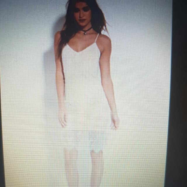 BNWT Eyelash White Lace Cami Dress