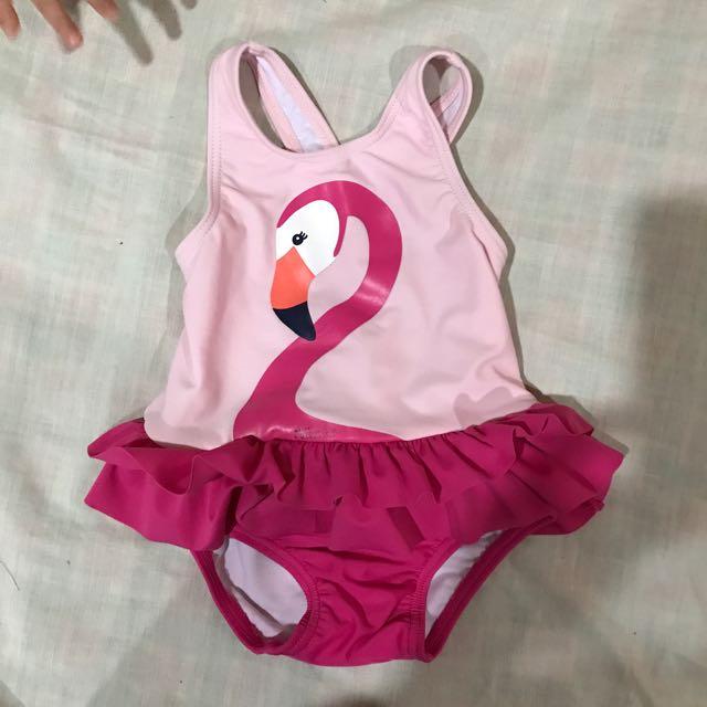 Flamingo Swimming Suit Babies Kids Babies Apparel On Carousell