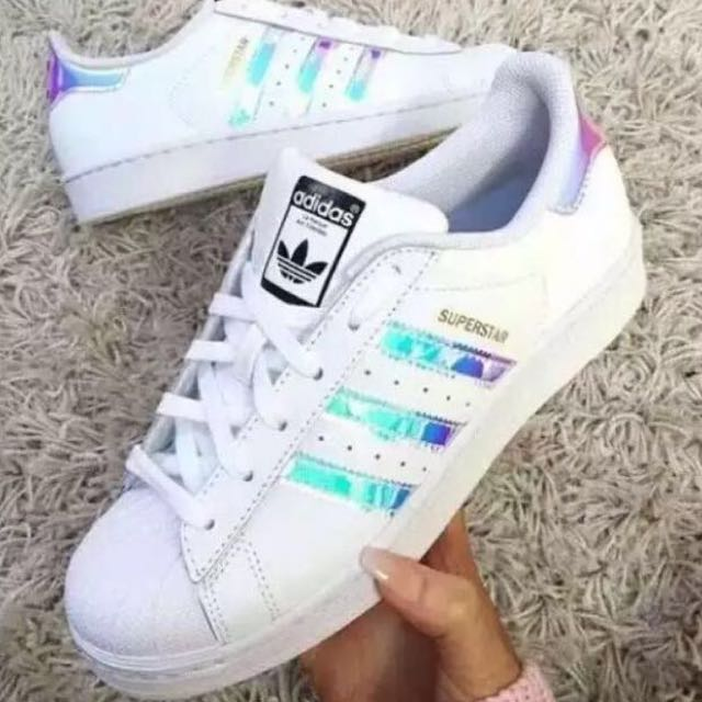 instocks) fede olografico adidas superstar scarpa!- flash vendita