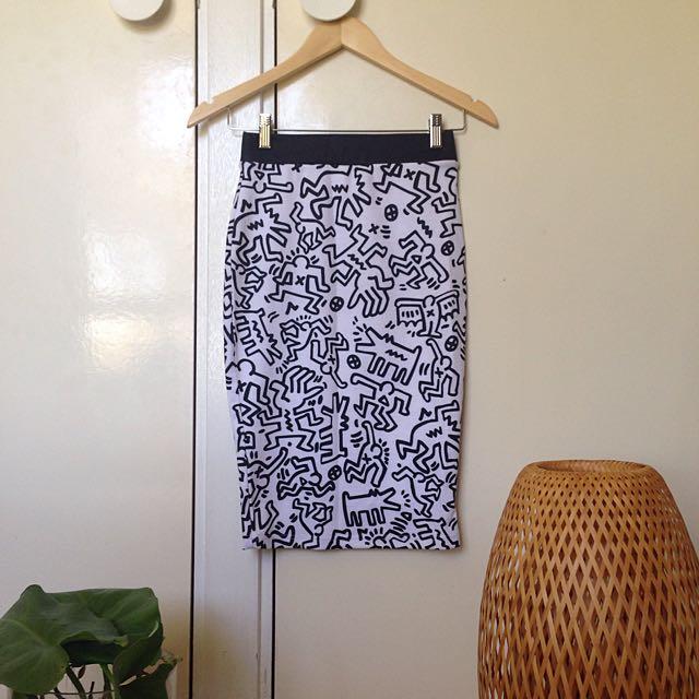 Funky Print Skirt