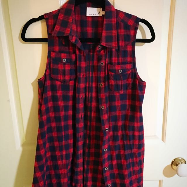 Gingham 1 & 20 Blackbirds Button Up Dress