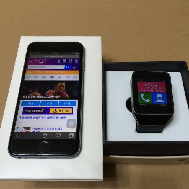 iphone6s 128G 太空灰 送 3G插卡藍牙智能錶