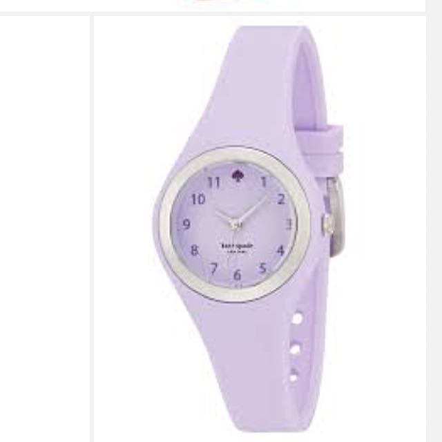 Kate Spade Silicone watch, Purple