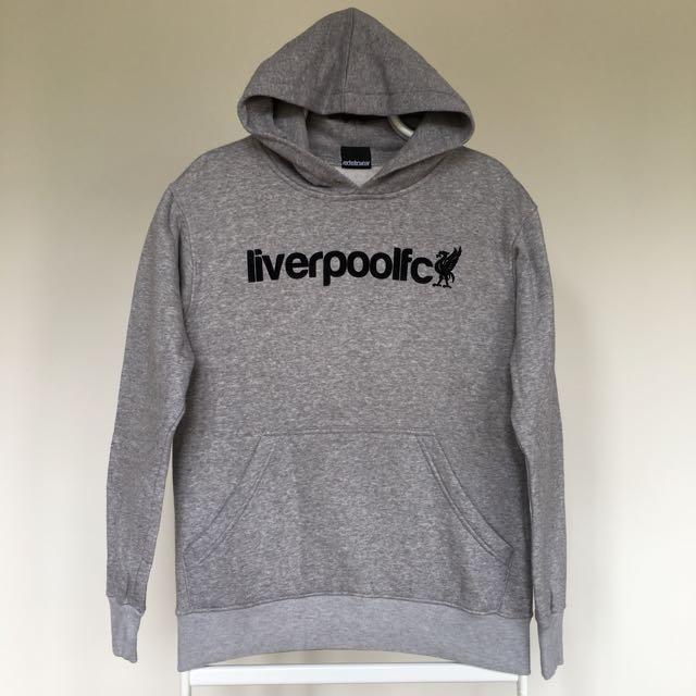 Liverpool FC Grey Hoodie Sweater