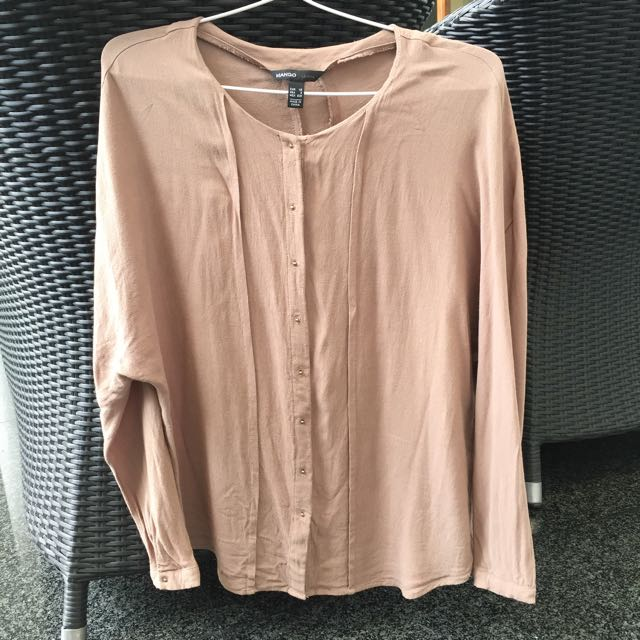 Reprice MANGO Casual Light Brown Blouse