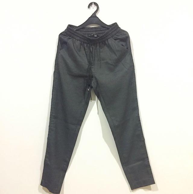 MANGO drawstring pants