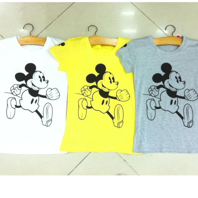 micky mouse tshirt-php 315 only-brand new-good fabric-fit to sizes from small to large-100% cotton and stretchable-free shipping/delivery-for order contact me at 09169361476-for more items visit/add our facebook at bersel entrprises-have a chat with us