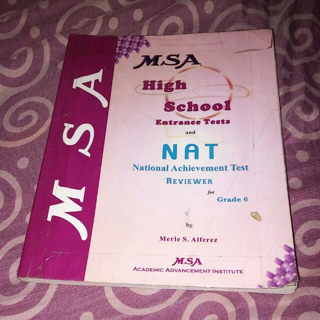 Msa High School Entrance Tests And Nat Reviewer For Grade 6 Books Books On Carousell