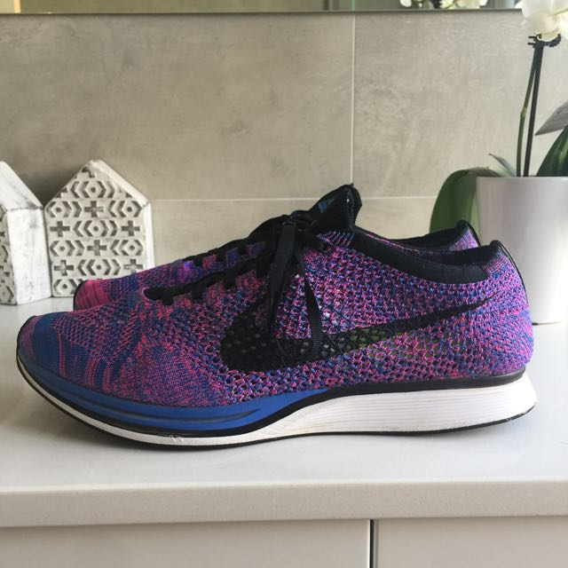Nike Flyknit Racer Purple/Blue US 12.5