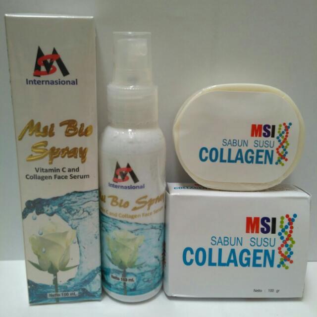 PAKET MSI BIO SPRAY COLLAGEN + MSI COLLAGEN SOAP