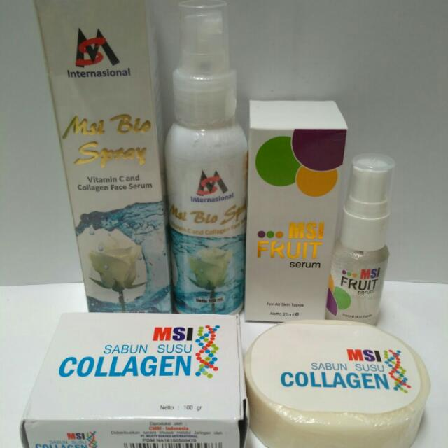PAKET MSI BIO SPRAY COLLAGEN + MSI COLLAGEN SOAP + MSI FRUIT SERUM