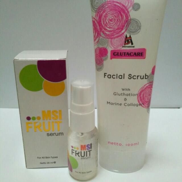 Paket MSI Glutacare Facial Scrub + MSI Fruit Serum