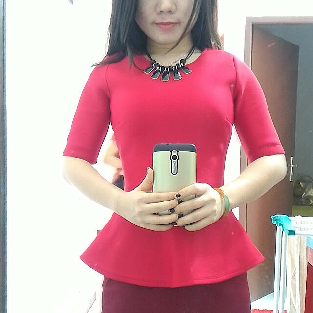 Peplum Red Blouse [TheExecutive]