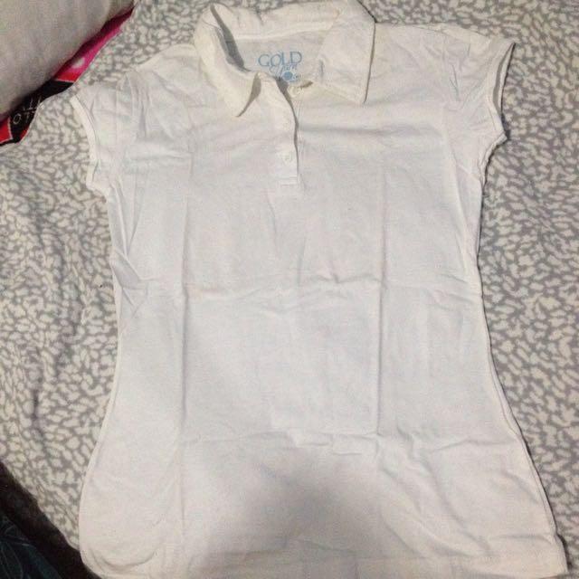 Plain White Polo Shirt