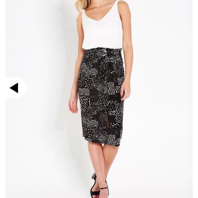 Portmans Cotton Midi Skirt Size 12