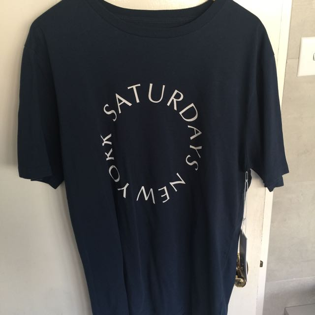 Saturdays NYC Navy T-Shirt Size XL
