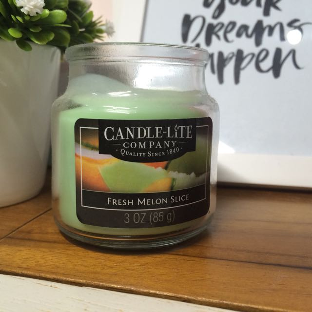 Scented Candle Sliced Melon