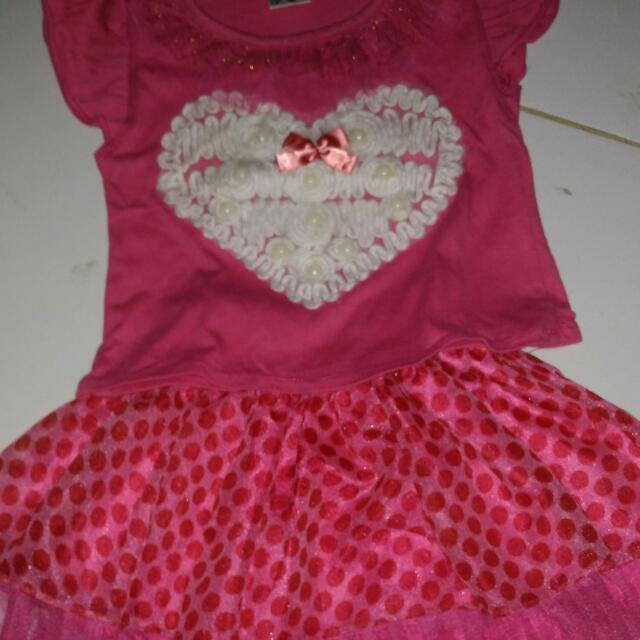 Setelan Dress Tutu