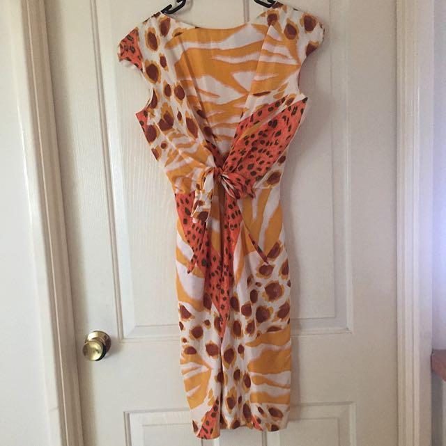 Silk Front Tie Dress