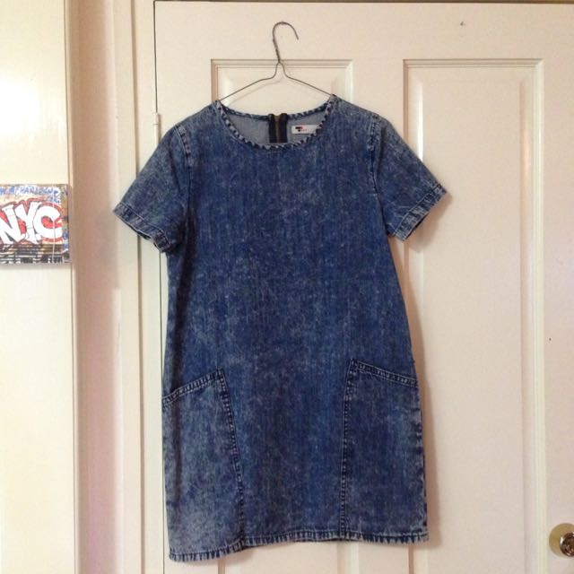 Size 8 Denim Look T-shirt Dress