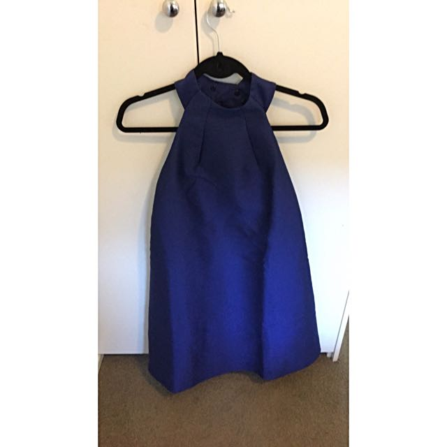 Size 8 Finery Royal Blue Dress, Low Back