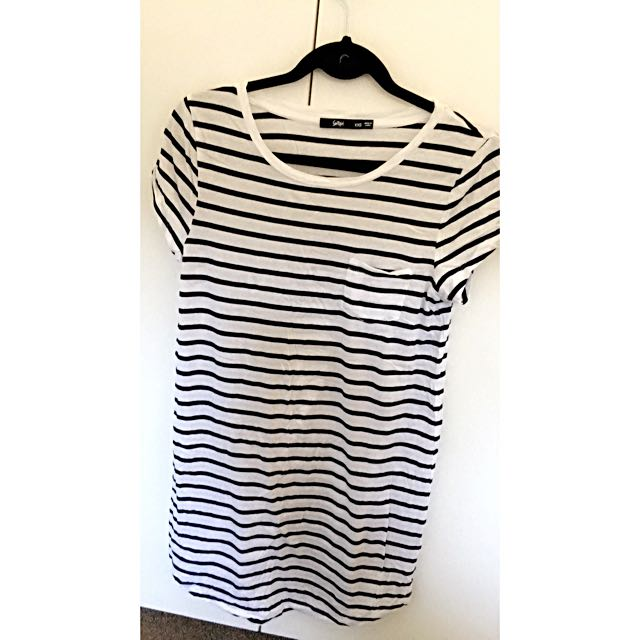 Size XXS Sportsgirl Black and White Stripe Dress