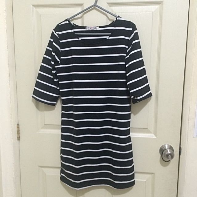 Striped B&W Dress (M-L)