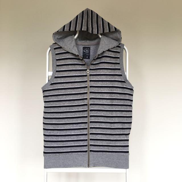 Stripes Vest with Hoodie