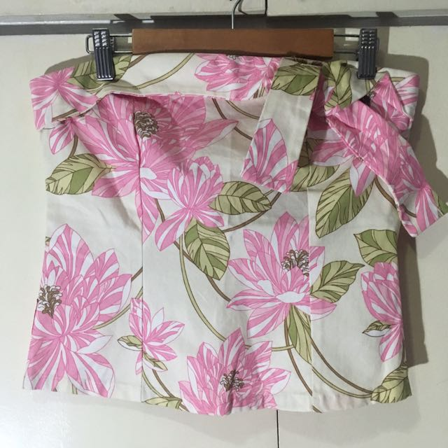 Unica Hija Tube Floral Top