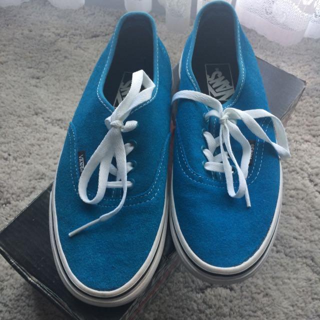 Vans Blue Suede Authentic Shoes