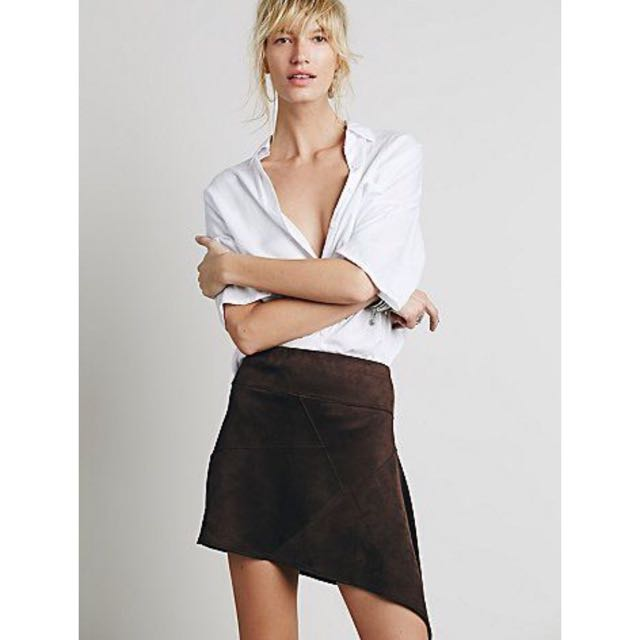 Vegan Suede Patchwork Mini Skirt From Free People