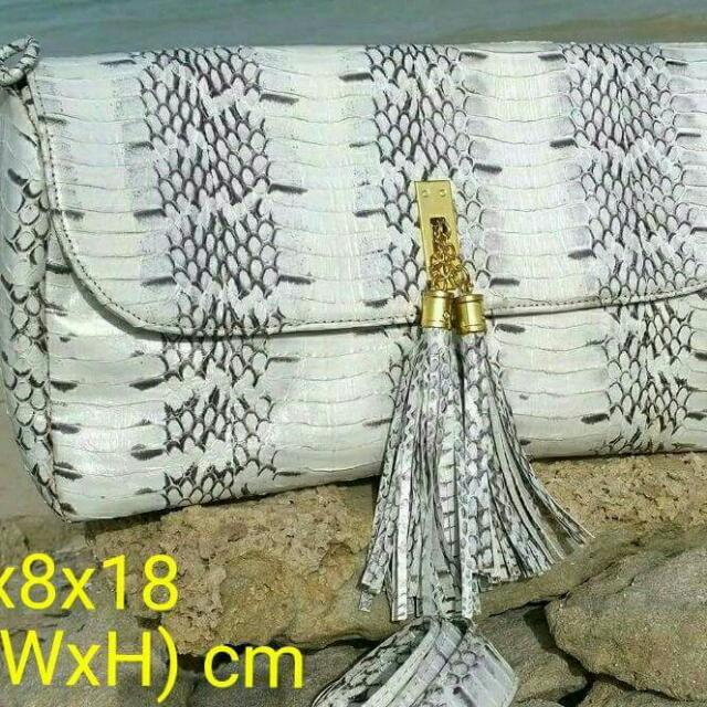 REPRICED!!! Watersnake Leather Bag
