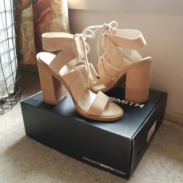 Windsor Smith Tyra Heels Sand Suede Size 6