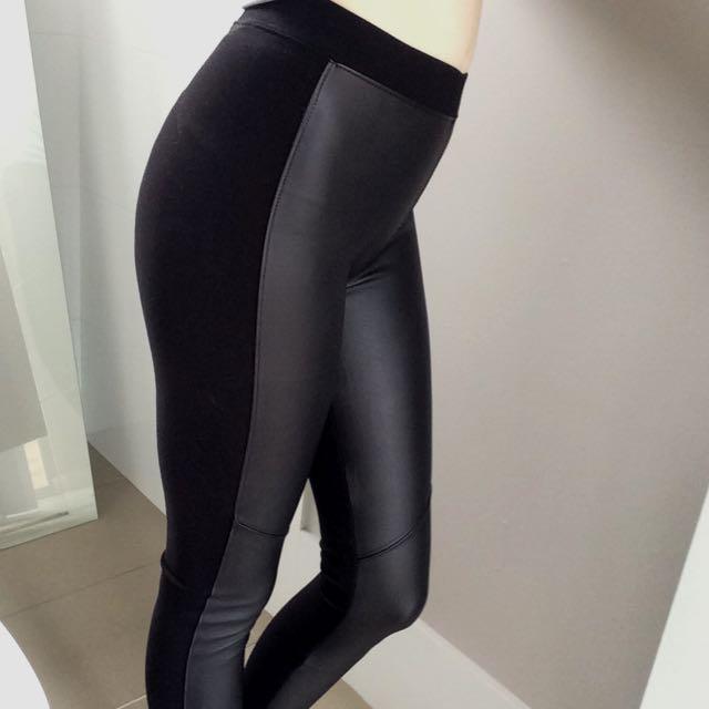 Witchery Size 6 Leather Legging