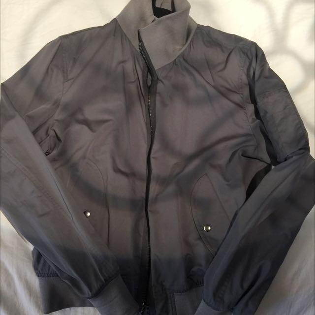 正品YSL聖羅蘭灰色男外套