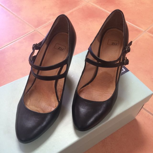 ZU Black Mary Jane Heels