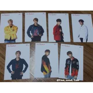 [READY STOCK] BTS Official SK Telecom Limited Postcards 2017